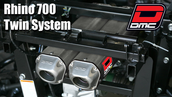Yamaha Rhino 700 (08-14) Quiet Twin Exhaust System DMC Twin